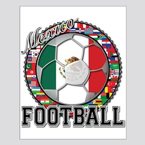 Mexico Flag World Cup Footbal Small Poster