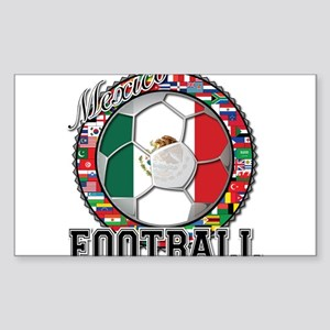 Mexico Flag World Cup Footbal Sticker (Rectangle)
