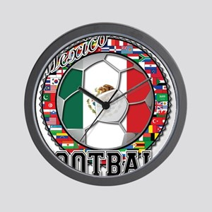 Mexico Flag World Cup Footbal Wall Clock