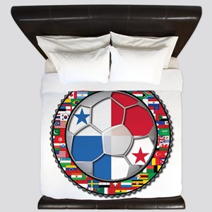 Panama Flag World Cup No Labe King Duvet