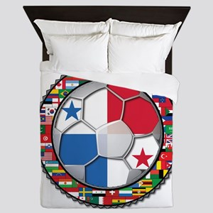 Panama Flag World Cup No Labe Queen Duvet