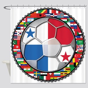 Panama Flag World Cup No Labe Shower Curtain