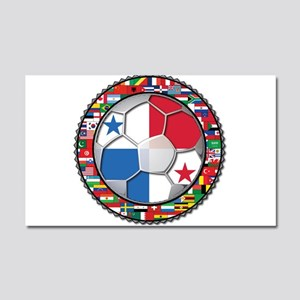 Panama Flag World Cup No Labe Car Magnet 20 x 12