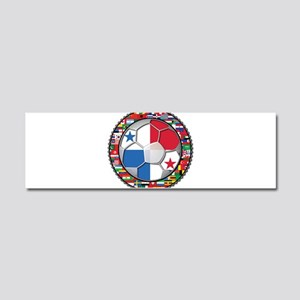 Panama Flag World Cup No Labe Car Magnet 10 x 3