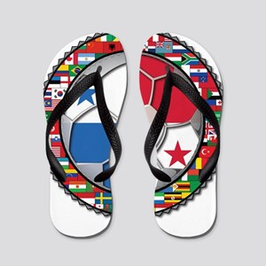 Panama Flag World Cup No Labe Flip Flops