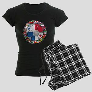 Panama Flag World Cup No Labe Women's Dark Pajamas