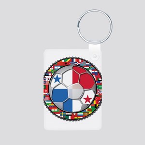 Panama Flag World Cup No Labe Aluminum Photo Keych