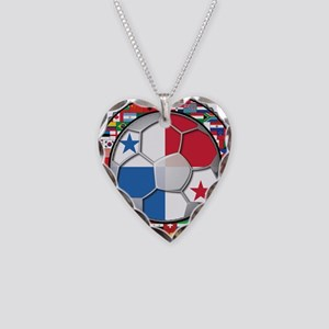 Panama Flag World Cup No Labe Necklace Heart Charm
