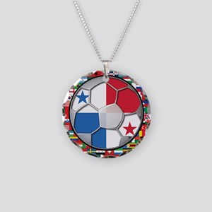 Panama Flag World Cup No Labe Necklace Circle Char