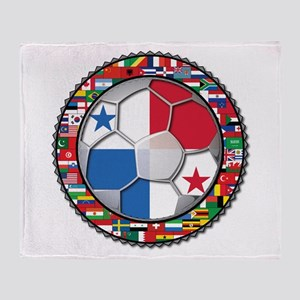 Panama Flag World Cup No Labe Throw Blanket