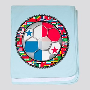 Panama Flag World Cup No Labe baby blanket