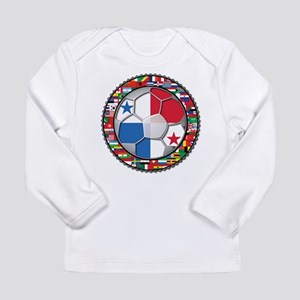 Panama Flag World Cup No Labe Long Sleeve Infant T