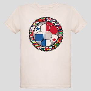 Panama Flag World Cup No Labe Organic Kids T-Shirt
