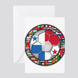 Panama Flag World Cup No Labe Greeting Card