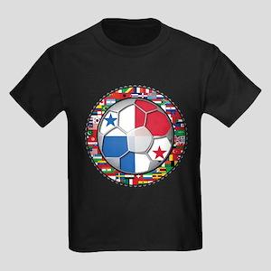 Panama Flag World Cup No Labe Kids Dark T-Shirt