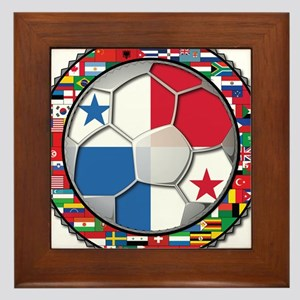 Panama Flag World Cup No Labe Framed Tile