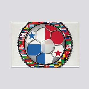 Panama Flag World Cup No Labe Rectangle Magnet