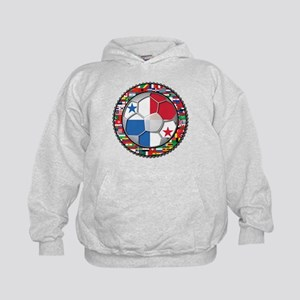 Panama Flag World Cup No Labe Kids Hoodie
