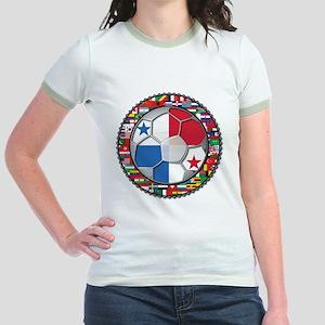Panama Flag World Cup No Labe Jr. Ringer T-Shirt