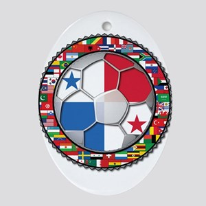 Panama Flag World Cup No Labe Ornament (Oval)