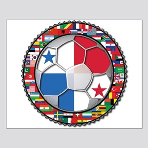 Panama Flag World Cup No Labe Small Poster