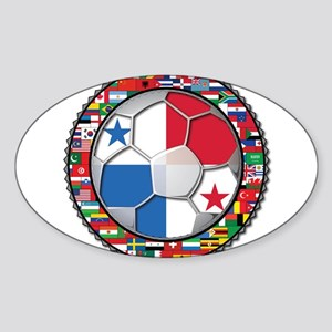 Panama Flag World Cup No Labe Sticker (Oval)