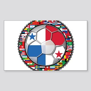 Panama Flag World Cup No Labe Sticker (Rectangle)