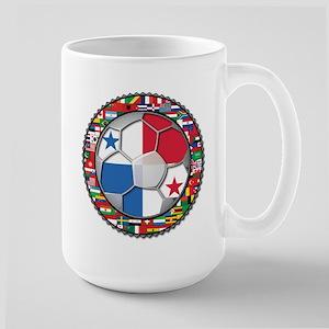 Panama Flag World Cup No Labe Large Mug