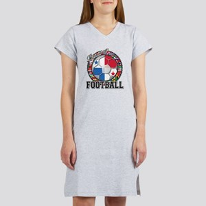 Panama Flag World Cup Footbal Women's Nightshirt