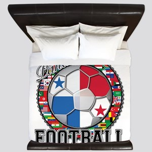 Panama Flag World Cup Footbal King Duvet