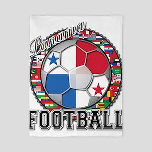 Panama Flag World Cup Footbal Twin Duvet