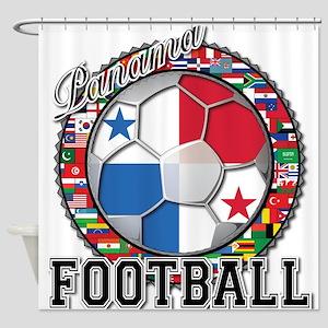 Panama Flag World Cup Footbal Shower Curtain