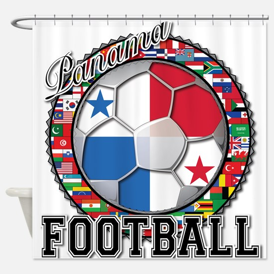Panama Flag World Cup Footbal Shower Curtain