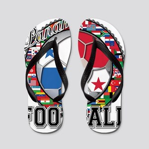 Panama Flag World Cup Footbal Flip Flops