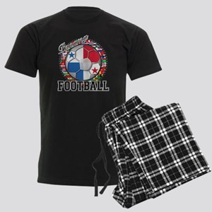 Panama Flag World Cup Footbal Men's Dark Pajamas