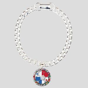 Panama Flag World Cup Footbal Charm Bracelet, One