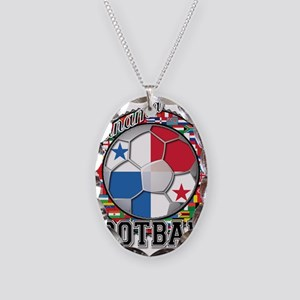 Panama Flag World Cup Footbal Necklace Oval Charm