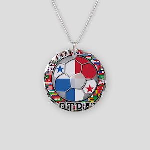 Panama Flag World Cup Footbal Necklace Circle Char