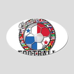 Panama Flag World Cup Footbal 22x14 Oval Wall Peel