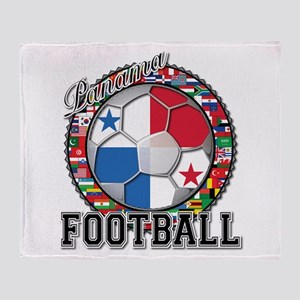 Panama Flag World Cup Footbal Throw Blanket