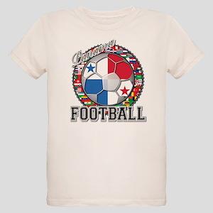 Panama Flag World Cup Footbal Organic Kids T-Shirt