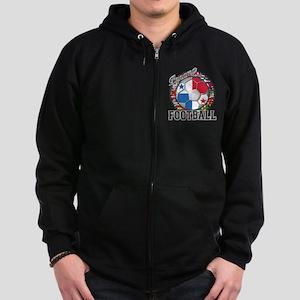 Panama Flag World Cup Footbal Zip Hoodie (dark)