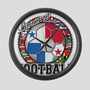 Panama Flag World Cup Footbal Large Wall Clock