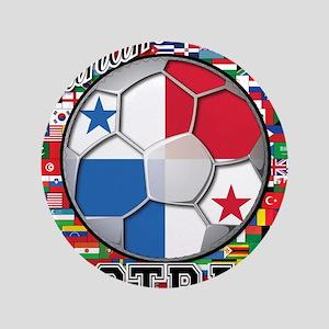 "Panama Flag World Cup Footbal 3.5"" Button"
