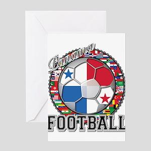 Panama Flag World Cup Footbal Greeting Card