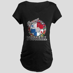 Panama Flag World Cup Footbal Maternity Dark T-Shi