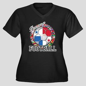 Panama Flag World Cup Footbal Women's Plus Size V-