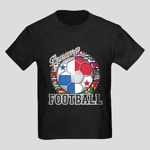Panama Flag World Cup Footbal Kids Dark T-Shirt