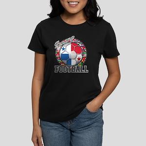 Panama Flag World Cup Footbal Women's Dark T-Shirt