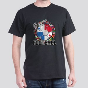 Panama Flag World Cup Footbal Dark T-Shirt